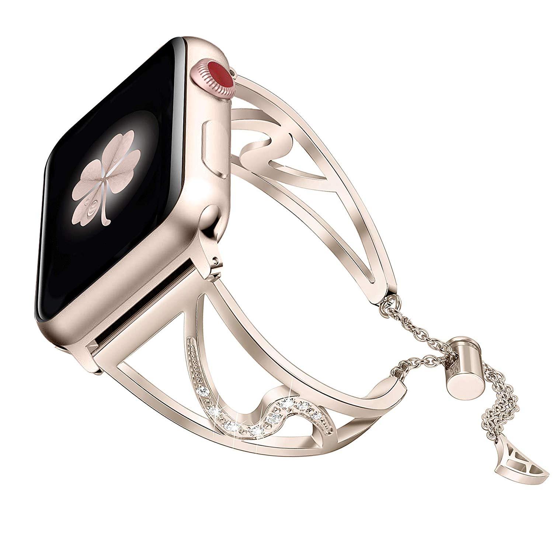 Bracelet Cristaux Strass pour Apple Watch Femme chez Bibitech.net