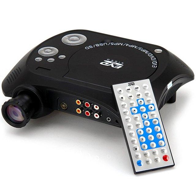 KSD-368 Portátil Home Business Education Projetor CONDUZIDO 40 Lumens 480x320 Resolução Nativa Longa Vida Útil Com Leitor de DVD