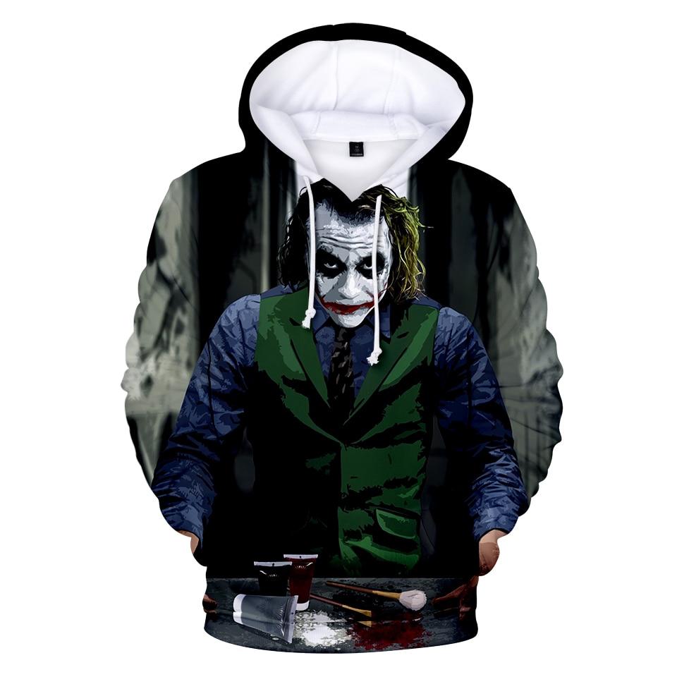 BTS 2018 New Joker Joker 3D Print Hooded Sweatshirt Hero Anime Ms/Men Hoodies Sweatshirt Fashion Hoodies Clothing XXS-4XL coat