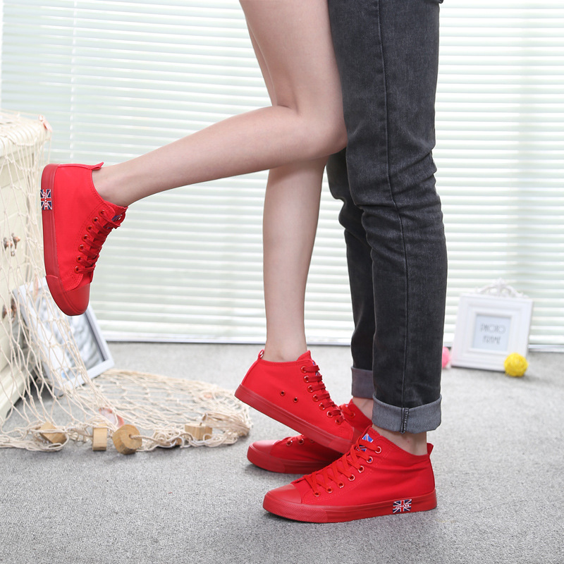 2016 spring new Star couple shoes men&women baskets sport red shoes Unisex British style running canvas shoes all size 35-43 wallet