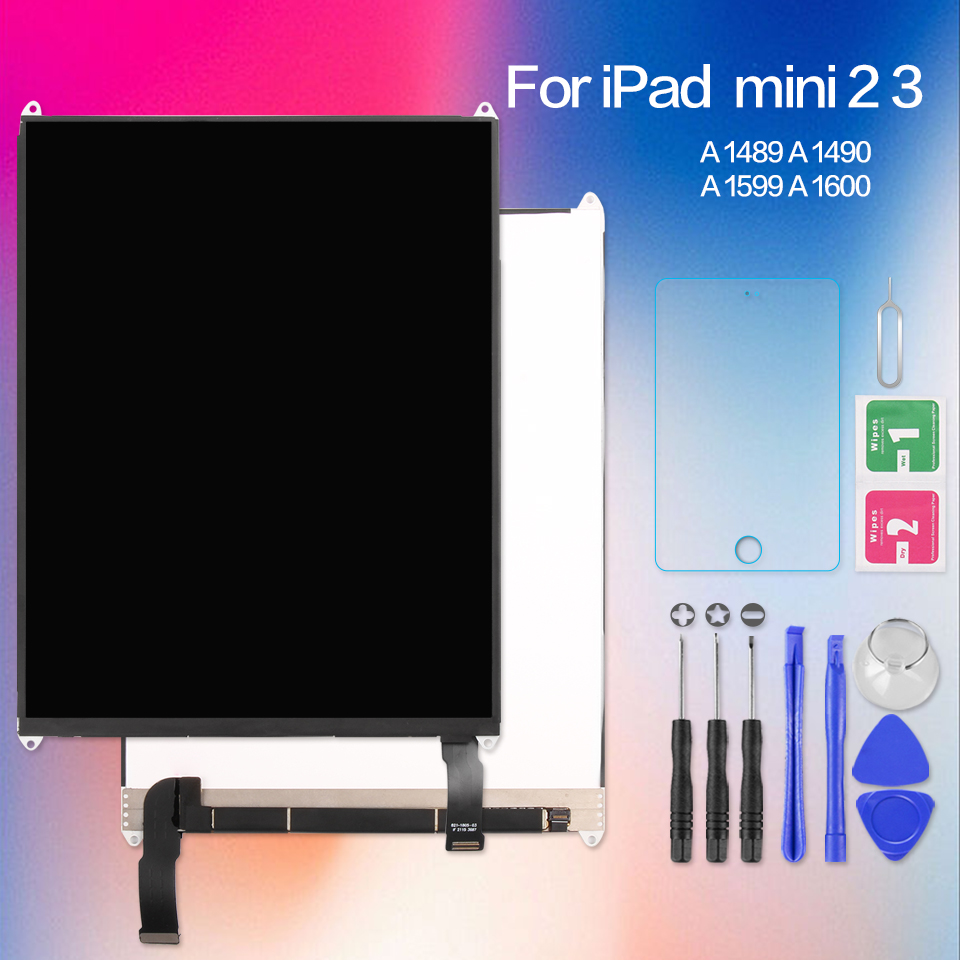 7.9 Inch LCD For iPad Mini 2 3 Gen Retina Mini2 A1489 A1490 Mini3 A1599 A1600 A1601 Matrix Screen LCD Display Repair Parts New original 7 85 inch replacement lcd display screen repair parts for ipad mini 2 2nd with retina a1489 a1490 free shipping