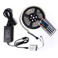 Led Strip 5050 SMD 60led/m 300leds Strip Light Flexible IP65 Waterproof + 44key Remote + 12V 5A Transformer For Home Decoration