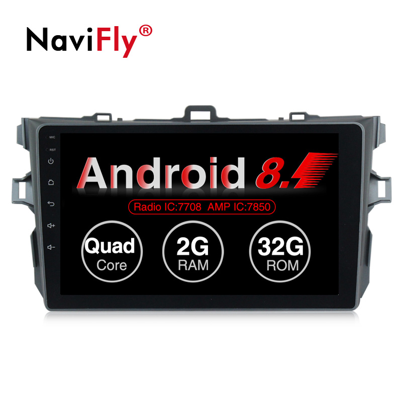 NaviFly 1G+16G/2G+32G Android 8.1 car multimedia player for Toyota corolla 2006-2011 9 inch car stereo radio video audio player