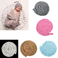 Newborn Baby Soft Photography Photo Prop Infant Backdrop Braided Child Blanket Rug High Quality