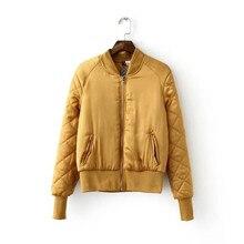 OLGITUM зимняя Мода куртки женщин Вскользь куртка Wadded Тонкий женский жакет Основная куртка пальто Хлопка LJ971Y