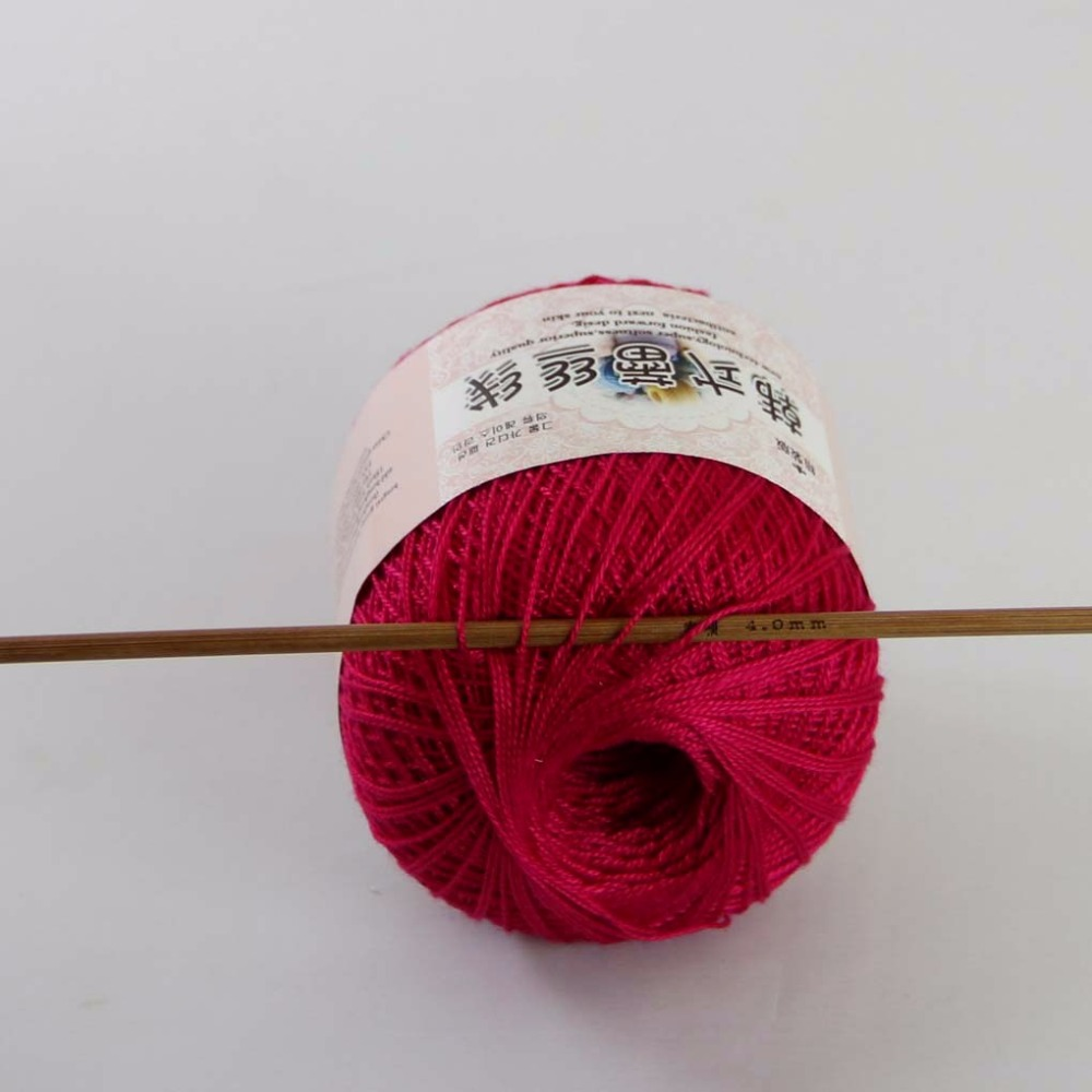 Electronic Components & Supplies Useful Free Shipping 2 Ballsx50g High Quality Soft 100% Cotton Crocheted Yarn Rose Red 16117 Moderate Cost