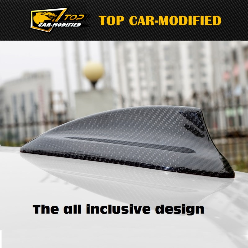 Free shipping Carbon Fiber Roof Shark Fin Car Antenna Decoration Add On Cap Cover For BMW 3 series frp fiber glass car styling hood bonnet lip chin valance fin add on tuning parts for nissan skyline r32 gtr gts