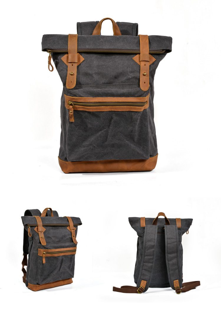 black WAXED CANVAS BAG