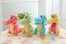 10 pieces a lot small cute plush crocodile toys mixed-colour creative crocodile dolls new crocodile gift about 18cm