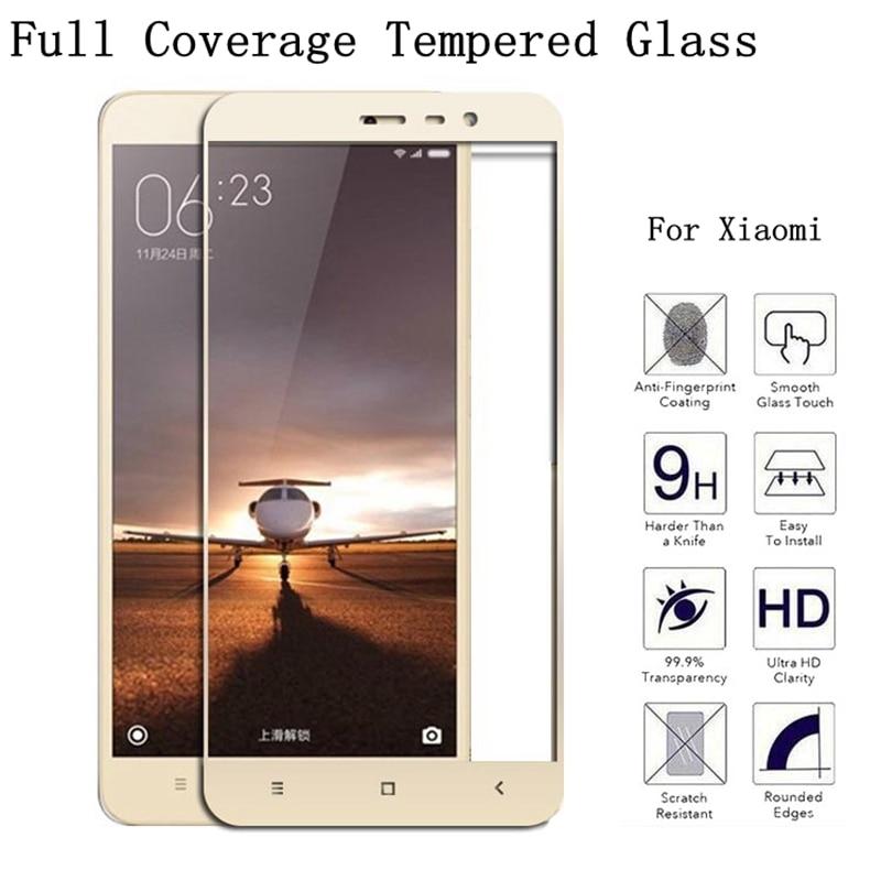 9H Full Coverage Tempered Glass For Xiaomi Mi5 Mi5C Mi5S Plus Mi Max Redmi Note 2 3 4X 4 Prime Pro Screen Protector Film Case