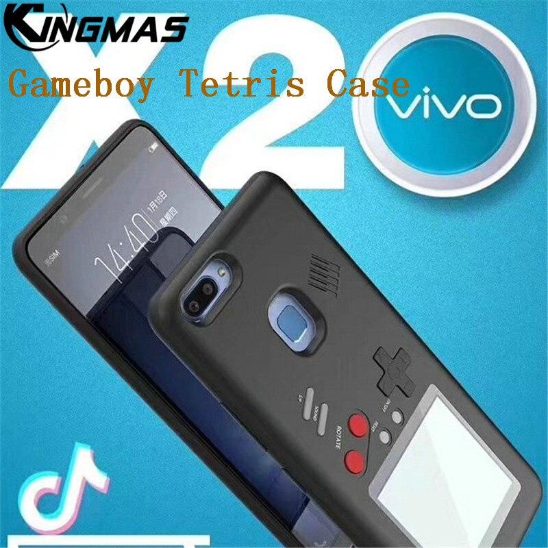 KINGMAS Game Console Tetris Gameboy Phone Case Retro Multifunction For vivo X20 / X20 plus Cover Play Nintendo Gift For Child
