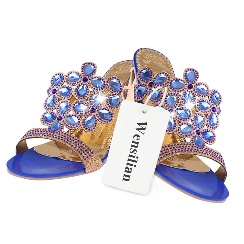 HTB1NYm6Df5TBuNjSspcq6znGFXat Designer Sandals Women 2018 Ladies Slides Women Slippers Sandals Summer Crystal Shoes Peep Toe Middle Heels Zapatos Mujer