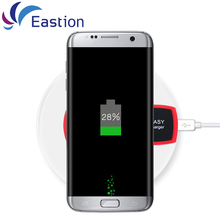 USB QI Wireless Charger for Samsung S6 S7 Edge Plus LED Light Disk Mobile Phone Universal Adapter Charging For iPhone Eastion