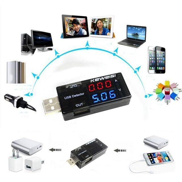 Détecteur de charge de tension de courant USB courant de puissance Mobile et voltmètre ampèremètre tension testeur de chargeur USB Double rangée montre