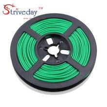 50 meter/roll 164 ft 28AWG Flexibele Rubber Silicone Draad Vertind koper lijn DIY Elektronische kabel 10 kleuren te kiezen uit