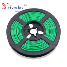 50 metrów/rolka 164 ft 28AWG elastyczne guma przewód silikonowy konserwy miedź linia DIY kabel elektroniczny 10 kolorów do wyboru