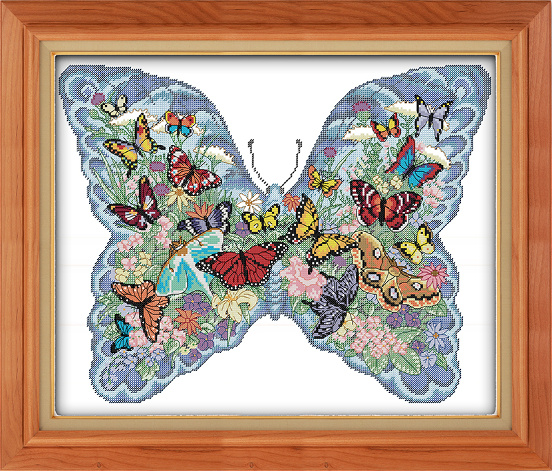 Counted Cross Stitch Kits Butterfly Wings Chart Needlework Crafts DIY