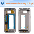 100% orginal middle frame housing for Samsung Galaxy S7 Edge G935 middle chassis black white gold silver blue