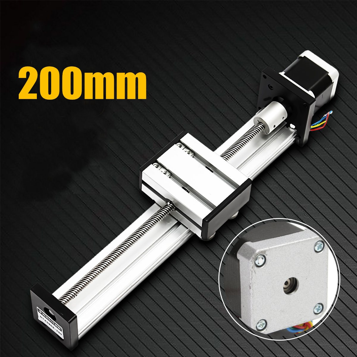 High Quality 200mm Slide Stroke CNC Linear Motion Lead Screw Slide Stage Stroke 42 Actuator Stepper Motor For Engraving Machine funssor 50mm 150mm slide stroke cnc z axis slide linear motion nema17 stepper motor for reprap engraving machine