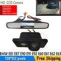 Парковка CCD Автомобильная Камера Заднего вида для BMW E81 E87 E90 E91 E92 E60 E61 E62 E63 E64 X5 X6 с 4.3 Дюймов Зеркало заднего вида монитор