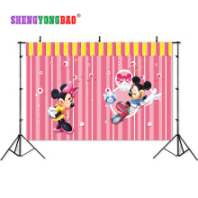 SHENGYONGBAO Art Cloth Digital Printed Photography Backdrops Prop Cartoon Happy birthday theme  Photo Studio Background SS-00024