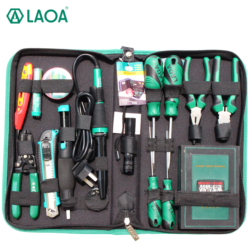 LAOA Repair Tool Set 53pcs Electric Soldering Iron Screwdriver Set Pliers Utility knife Handtools Repairing Set