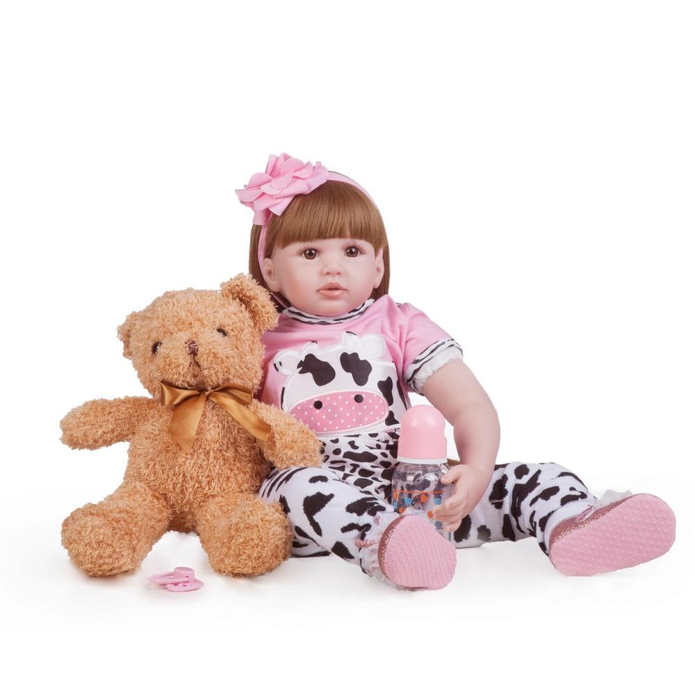 60cm gros Silicone vinyle Reborn bébé poupée jouets pour fille princesse bambin vivant bébés comme réel cadeau d'anniversaire Brinquedos menina