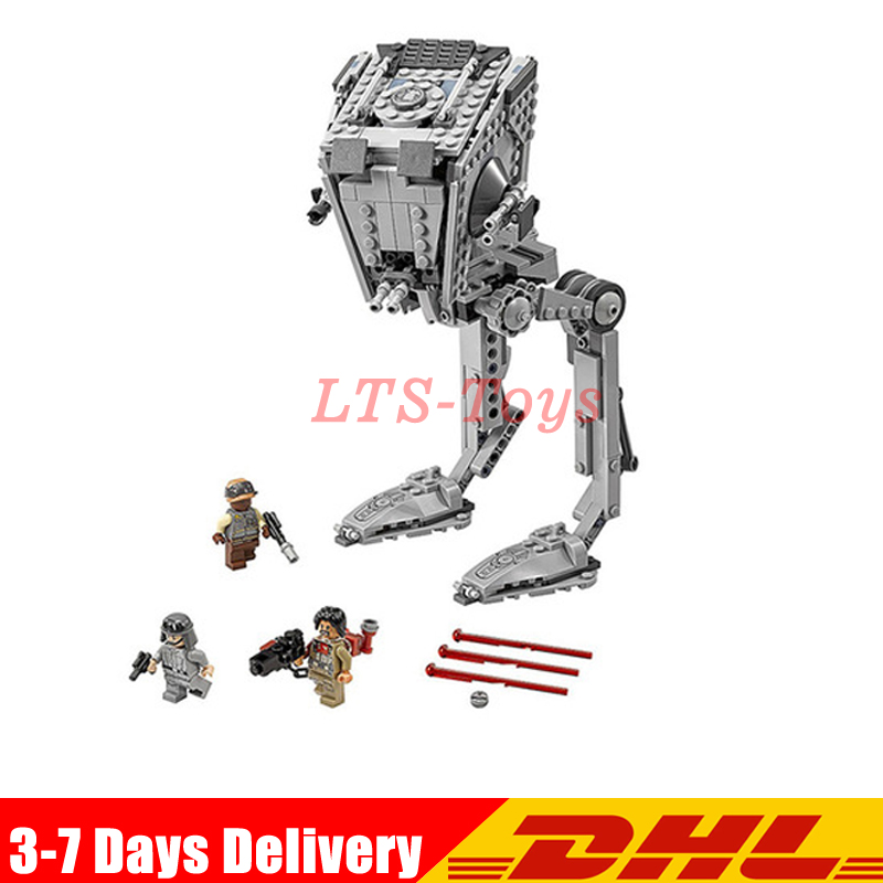 цена на LEPIN 05052 Star series Wars The Force set Awakens Kits AT toy ST Walker Model Building Blocks Bricks Compatible legoing 75153