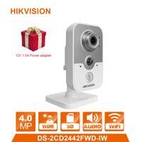 WIFI IP Camera DS 2CD2442FWD IW 4 0MP Videcam Surveillance Cam Alarm System CCTV Webcam 12V