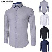 2018 New Design Casual Shirt Men Long Sleeve Big Size Mens Cotton Business Formal Shirt Slim Fit Casual Dress Shirts Men Camisas