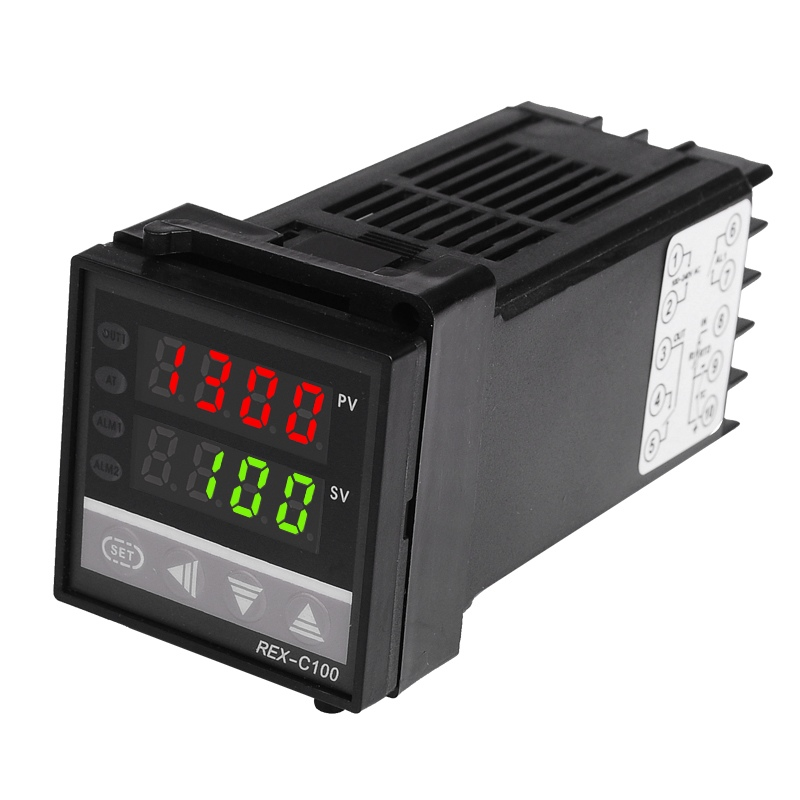 Doppio regolatore di temperatura PK digitale RKC REX-C100 con - Strumenti di misura - Fotografia 2
