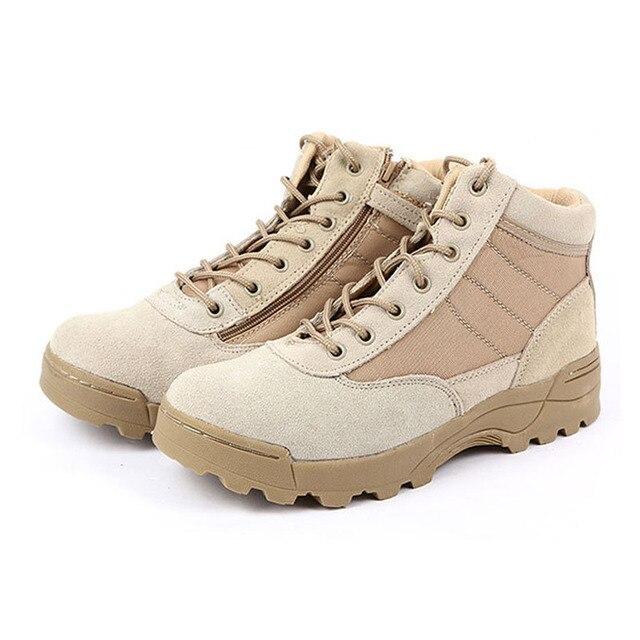 Военные мужская Повседневная Военная Тактическая Боевая Армия Deseart Песок Камуфляж Короткие Ботильоны Обувь Мужчины Botas Zapatos Хомбре Masculino