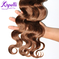 Rosa Hair Products Brazilian Virgin Hair 4 pcs Brazilian Body Wave human hair Light Brown Virgin hair extensions free shipping