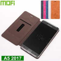 Original Mofi For Samsung Galaxy A5 2017 Case Stand Flip Cover Funda PU Leather Case For