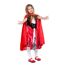Little Red Riding Hood Costume for Kid Christmas Purim Fancy Dress Cosplay Party