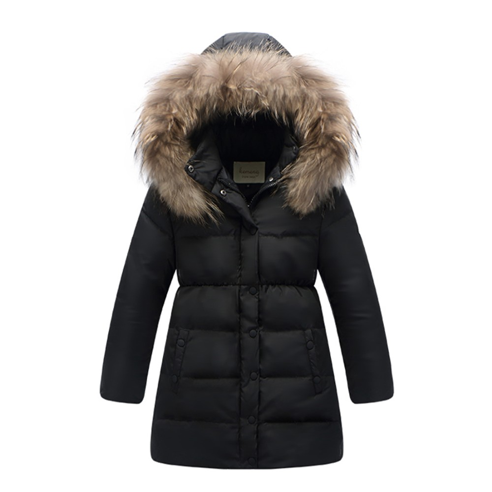 Kids Parka Puffer Quilted Jaket Long Sleeve School Uniform Coat Children Girls