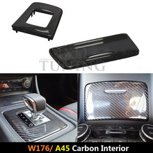 For Mercedes w176 interior 2012 2013 2014 2015 2016 Benz A Class A45 AMG Carbon Fiber Gear Surround and Compartment Cover