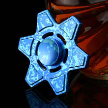 Fashion six Angle Fidget Spinners Blue BlackToy EDC Hand Spinner Anti Stress Reliever And EDC Toys For Children Adults