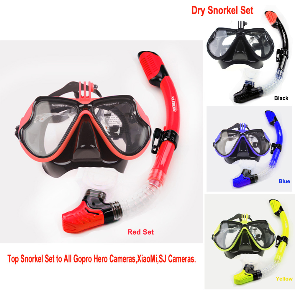 Myopia lens scuba diving set  nearsighted men and women diving gears tempered dive mask and dry snorkel Gopro camera dive mask tempered glass myopia snorkel set adult scuba diving mask gopro camera mount dry diving set deepgear brand scuba snorkel gears