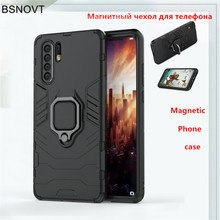 For Huawei P30 Pro Case TPU+ PC Magnetic Finger Ring Anti-knock Cover Funda BSNOVT