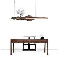 Wongshi современные твердой деревянный подвесной светильник Китайский Японский Nordic Творческий Ретро светильник ветка для столовой Кухня River