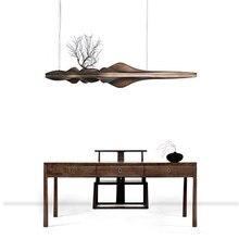 Wongshi современные твердой деревянный подвесной светильник Китайский Японский Nordic Творческий Ретро светильник-ветка для столовой Кухня River Island Деревянный светильник
