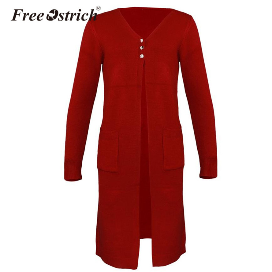 Free Ostrich Autumn Cardigan Long Sweater Women High Street Pull Femme Oversized Sweater ...