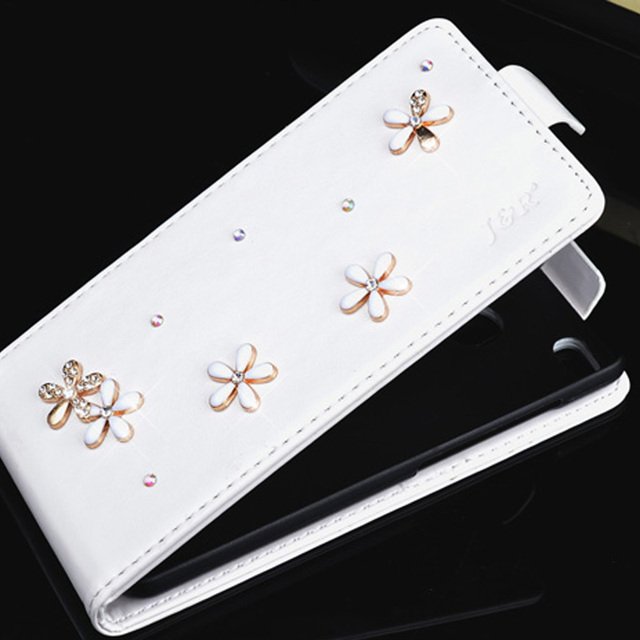 Leather Case For Huawei Y6 SCL-L21 Diamond Cover For Huawei Ascend Y6 SCL-U31/Honor 4A Crystal Rhinestone Bag