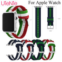 цена на Colorful striped nylon strap For Apple Watch 40mm 44mm 38mm 42mm smart watch band for Apple Watch series 4 3 2 1 iWatch bracelet