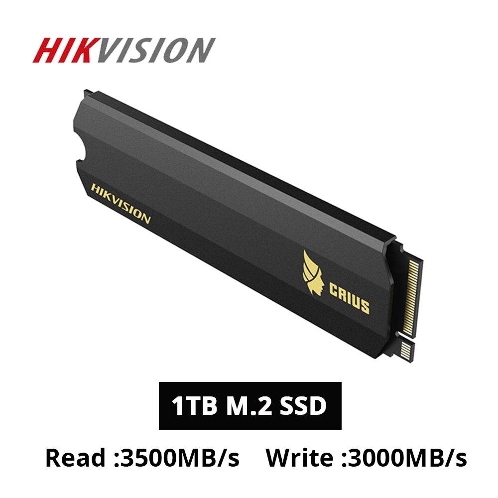 HIKVISION SSD M.2 1 to 2TB 512gb 3500 mo/s C2000 Pro disques statiques pour ordinateur portable de bureau NVMe PCIe Gen 3x4