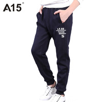 A15 Kids Clothes Boys Pants Casual Black 2017 New Spring Children Sports Trousers Boys Teen Pants