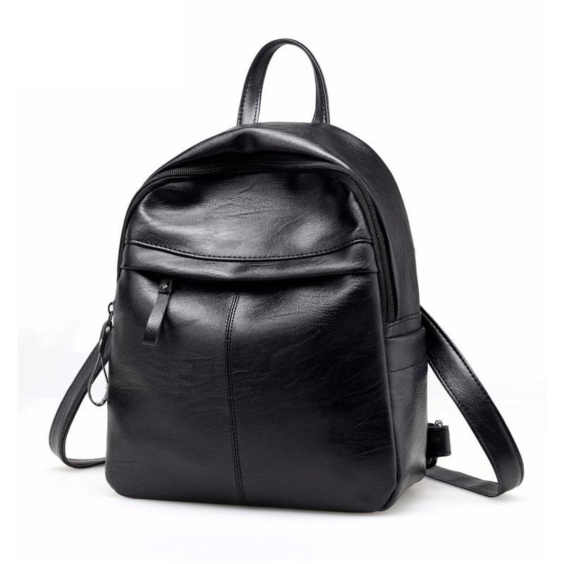 a196b5e90436 2019 высокое качество из искусственной кожи для женщин рюкзак модные  однотонные школьные ранцы для подростка обувь