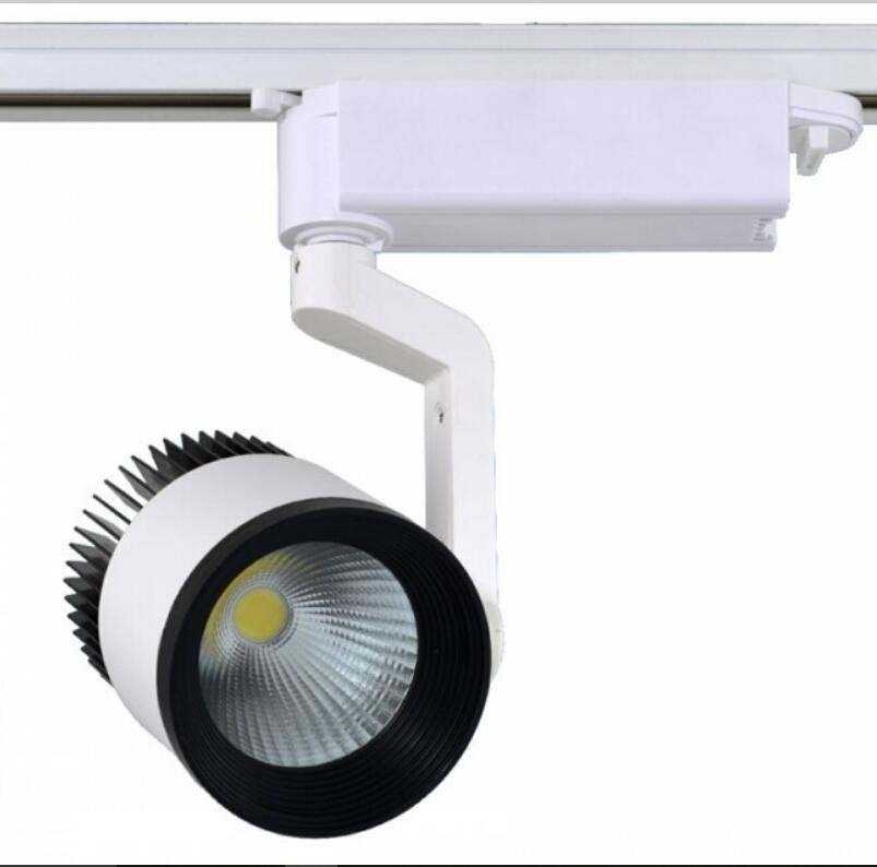 30w Led Track Lighting Fixtures: Free Shipping LED Rail Lighting 30W COB LED Track Light