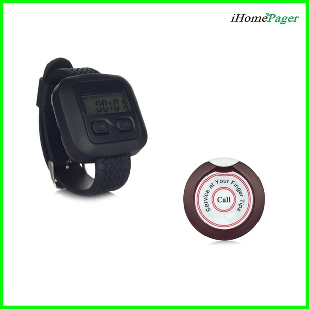 Waiter Paging System 20pcs of Table Button and 4 pcs of Wrist Watch Reciever Singcall PRODUCTS